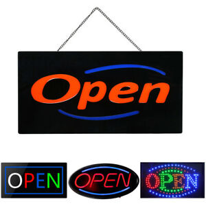 Led Neon Open Sign Shop Light Electric Display Board Business Store Hotel Window