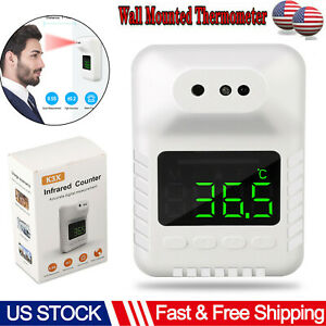 Fast Wall Mount Digital Infrared Thermometer Automatic Non Contact Forehead Usa
