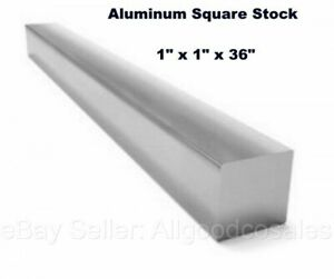 Square Stock 6061 Aluminum Alloy 1 X 1 X 36 Solid Square 3 Ft Long Bar