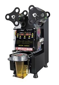 Commercial Fully Automatic Bubble Tea Cup Sealing Machine plastic Cup Sealer