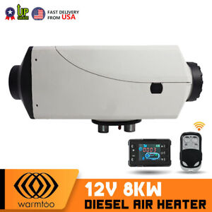 8kw 12v Pro Air Diesel Heater Lcd Remote Silencer Car Trucks Boat Hot Us