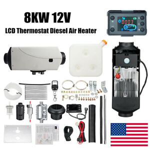 New 8kw Air Diesel Heater With Lcd Remote Silencer Fits Car Truck Boat Motorhome