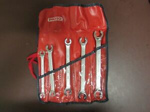 Proto Usa Professional Vintage 5 Piece Metric Flare Nut Wrench Set 7 17mm