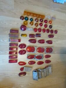 Vintage Auto Car Glass Lenses Tail Light Nos Box Full Sold As A Lot