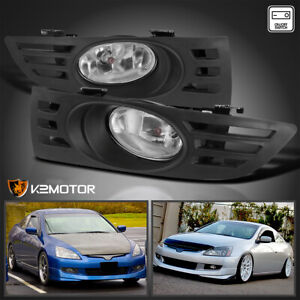 For 2003 2005 Honda Accord 2dr Coupe Clear Fog Lights Driving Lamps W Switch