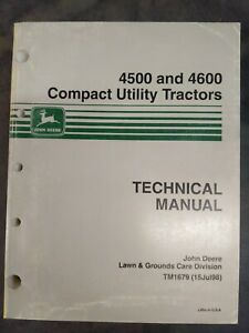 John Deere 4500 And 4600 Compact Utility Tracks Technical Manual