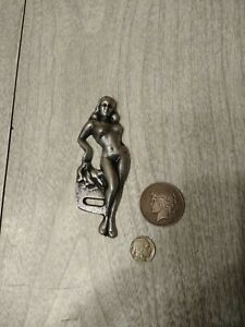 Pin Up License Plate Tag Topper Knucklehead Panhead Flathead Hot Rod Old 2