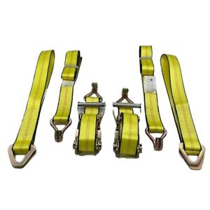 Rytash New Double J Race Car Tie Down Ratchet Straps For Trailers 2 Pack