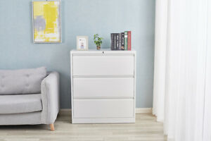 Lockable Lateral File Cabinet W 3 Drawers Hanging Lateral Metal Storage Cabinet