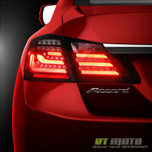 For Black 2013 2015 Honda Accord Led Tube Tail Lights Brake Lamps Left Right
