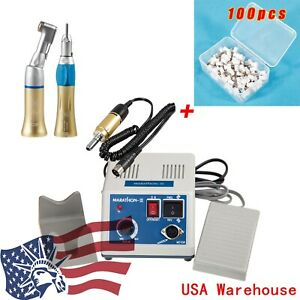 Dental Lab Marathon Polisher 35k Rpm Electric Motor Handpiece 100 prophy Cups Wt
