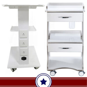 Mobile Medical Dental Tool Cart Trolley Auto water Bottle Supply built in Socket