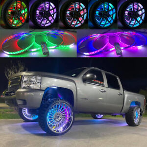 17 5 Ip68 Wheel Well Rims X4pcs Rings Lights For Truck Dream Color Chasing Flow