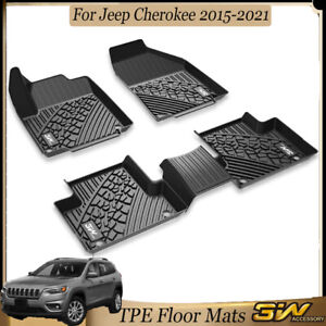 3w Liner Floor Mats For Jeep Cherokee 2015 2021 Front Rear 2 Rows All Weather