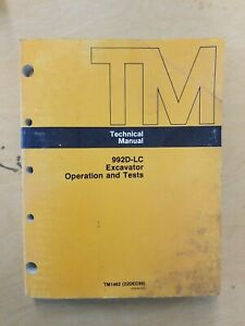 John Deere 992d lc Excavator Operation And Tests Technical Manual