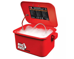 Torin T10035 3 5 Gal Steel Cabinet Portable Parts Washer Electric Pump Red
