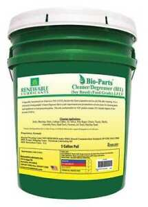 Renewable Lubricants 87594 Liquid 5 Gal Cleaner And Degreaser Pail