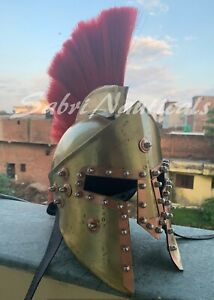 300 Brass Movie Helmet Copper Spartan Roman Rare King Leonidas Medieval Greek $99.00
