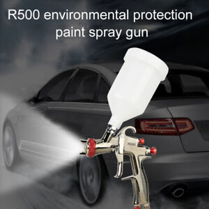 Professional Spray Paint Gun Hvlp R500 1 3 Mm Nozzle Container W 600 Ml Cup