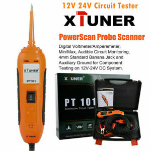 Xtuner Pt101 12v 24v Power Probe Circuit Tester Dc ac Electrical System Tool