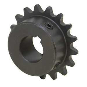 18 Tooth 1 Bore 35 Pitch Roller Chain Sprocket 35bs18h 1 1 2413 18 e