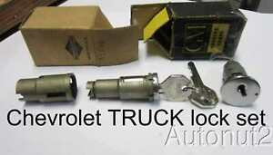 Chevrolet Truck Lock Set 1935 1936 1937 1938 1939 1940 1941 1942 1946 Door Ignit