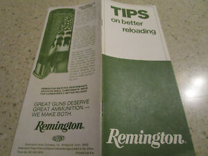 1974 REMINGTON Arms Company Brochure TIPS ON BETTER RELOADING Shotgun 10pg $5.00