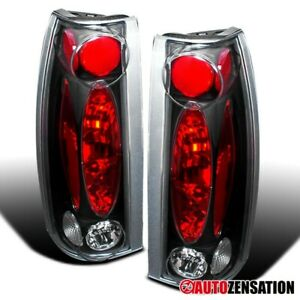 For 1988 1998 Chevy Gmc C10 Silverado Sierra 92 99 Yukon Black Tail Lights Lamps