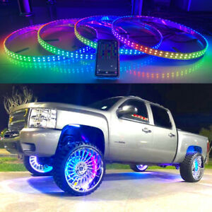 4x 17 5 Double Row Wheel Rims Lights For Truck Color Chasing Flow Series Ip68