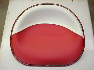 Ih Farmall cub C H M 200 300 400 New Red white Vinyl Pan Seat 21 3 4