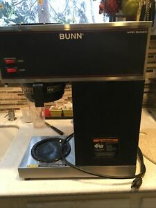 Bunn Vpr 33200 0001 Commercial Pour Over Coffee Maker Dual Warmer Black silver
