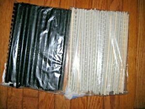 Plastic Comb Bindings Spiral Coil Spines Black Off White Gray 230 Lot