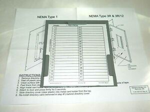 New Siemens Mchk Metal Card Holder And Breaker Label For Electrical Panels