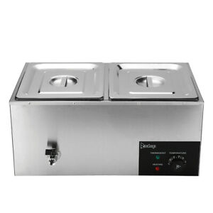 Food Warmer Buffet Server Heater Electric Hot Plate Warming Tray Stainless Steel
