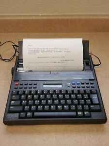 Brother Ep 43 Portable Typewriter tested Perfect