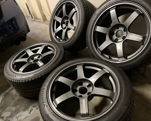 Volk Te37 Saga Diamond Dark Gunmetal 18x10 41