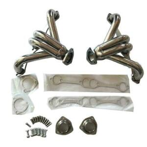 Stainless Hugger Shorty Exhaust Manifold Headers For Small Block Chevy Sbc 350