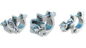 2 Forged Galvanized 2 Scaffolding swivel Clamps