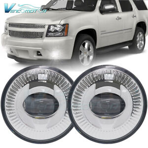 2pcs Round Bumper Fog Lights Lamps Assembly Fit For Chevrolet Tahoe 2007 2014