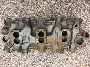 1958 1961 Used Chevy Intake Manifold 3x2 3749948