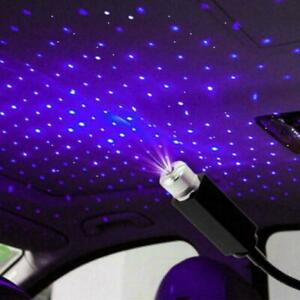 Usb Car Roof Atmosphere Lamp Interior Ambient Star Led V Lights Projector 5 X8d3