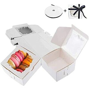Thalia 60 Pack Bakery Boxes With Window Pastry Donut Cookie For Gift Giving amp