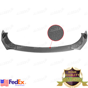 Carbon Fiber Car Front Bumper Lip Chin Side Winglet Splitter Body Universal Kit $48.99