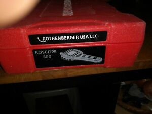 Lightly Used Rothenberger Roscope 500 Digital Drain Inspection Camera W case