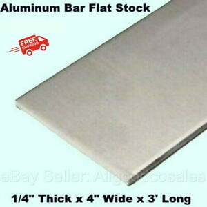 Aluminum Bar Flat Stock 1 4 Thick X 4 Wide X 3 Ft Long Unpolished Finish Alloy