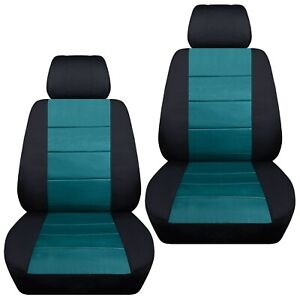 Front Set Car Seat Covers Fits 1997 2020 Toyota Camry Black Teal