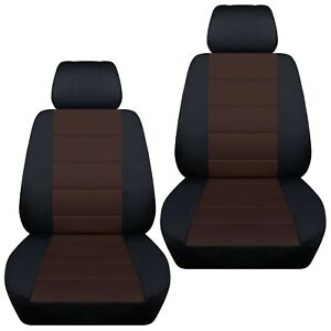Front Set Car Seat Covers Fits 1997 2020 Toyota Camry Black Brown