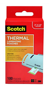 Scotch Thermal Laminating Pouches 5 Mil Thick For Extra Protection 2 32 X Card