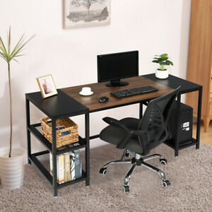 60 Computer Desk Pc Laptop Study Writing Table Workstation Home Office