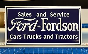 Ford Tractors Standard Fordson E27n County Tool Box Sticker Signs Poster X 2